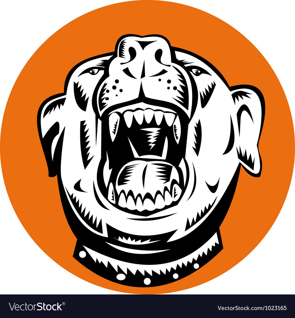 Angry mongrel dog vector | Price: 1 Credit (USD $1)