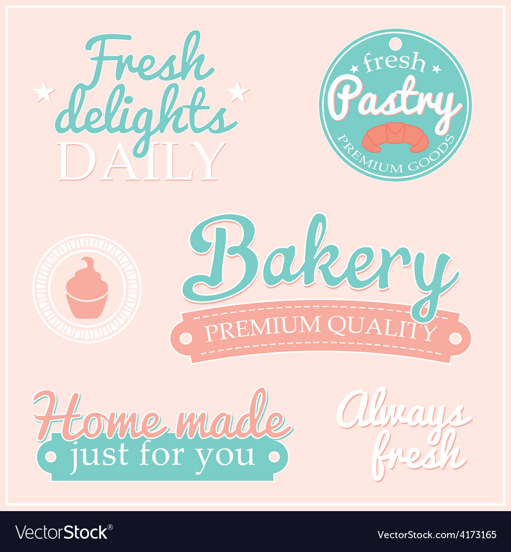 Bakery label collection vector   Price: 1 Credit (USD $1)