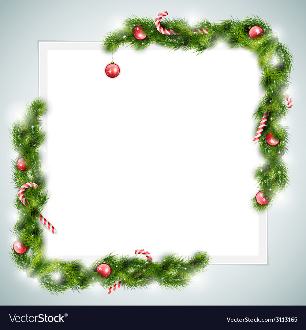 Blank sheet of paper with christmas attributes vector   Price: 1 Credit (USD $1)
