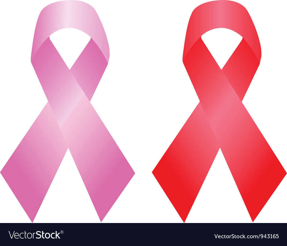 Cancer and aids awareness ribbon vector | Price: 1 Credit (USD $1)