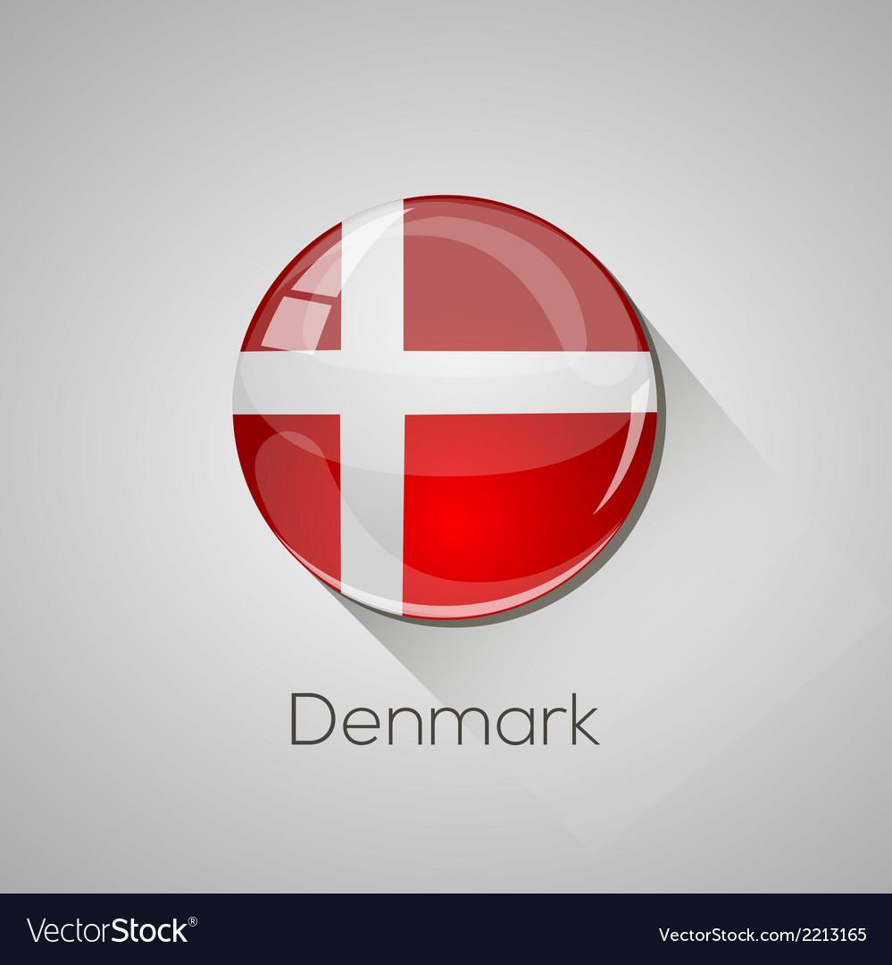 European flags set - denmark vector | Price: 1 Credit (USD $1)