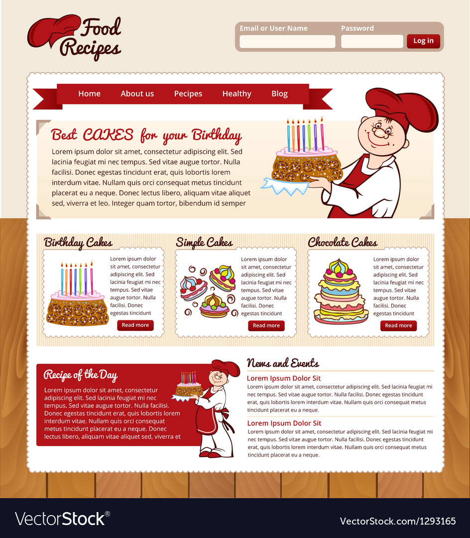 Food recipes template vector | Price: 1 Credit (USD $1)