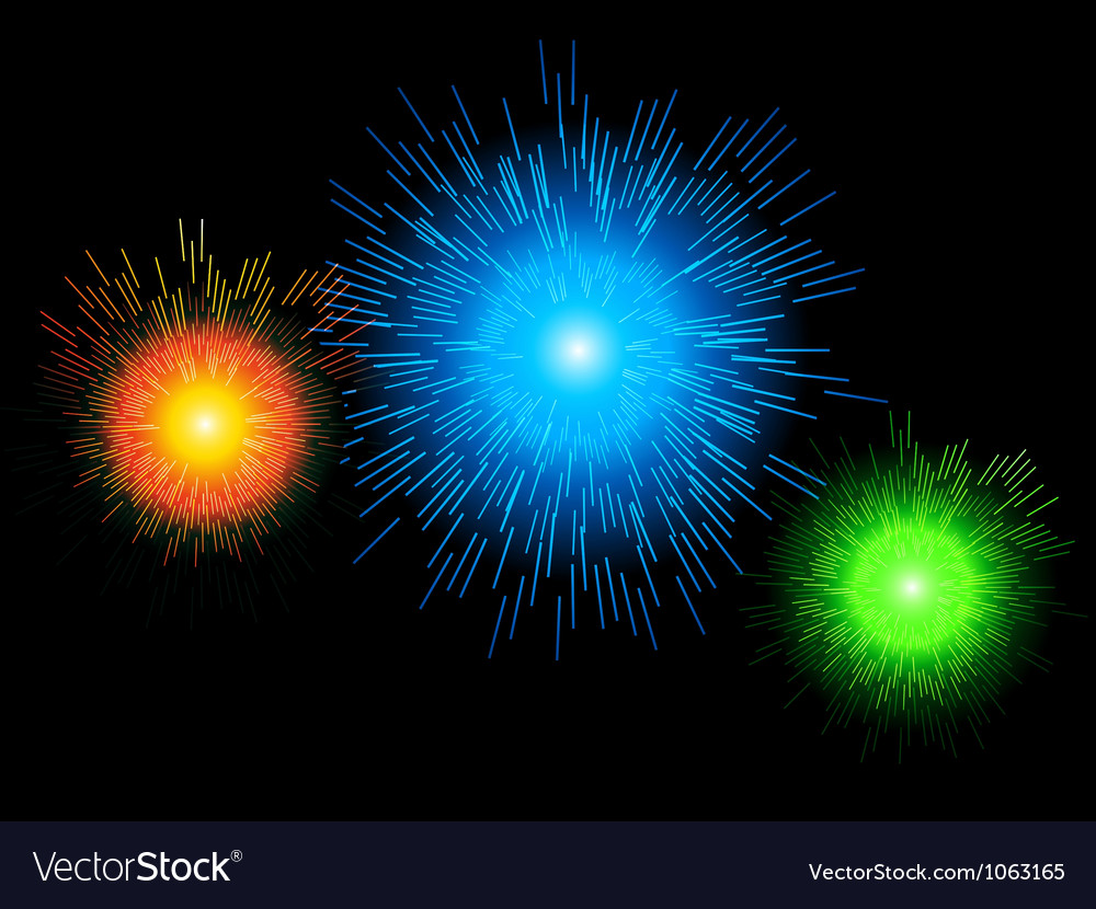 Glowing firework background vector | Price: 1 Credit (USD $1)
