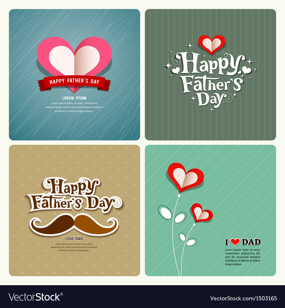 Happy fathers day love dad collections vector | Price: 3 Credit (USD $3)