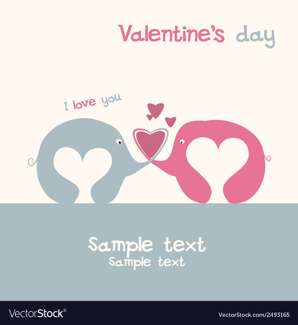 Lovers of elephants vector | Price: 1 Credit (USD $1)