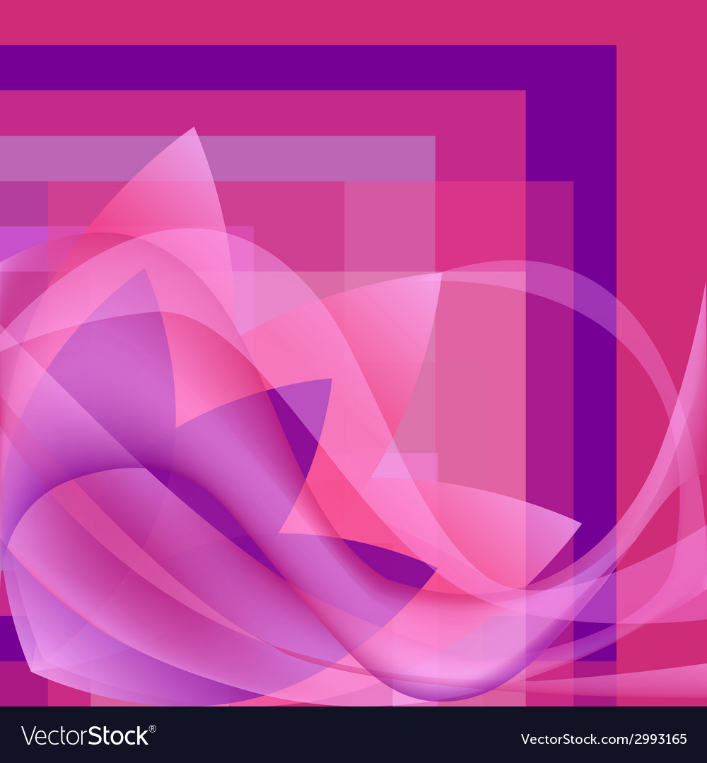 Pink flower with waves on a square gradient vector | Price: 1 Credit (USD $1)
