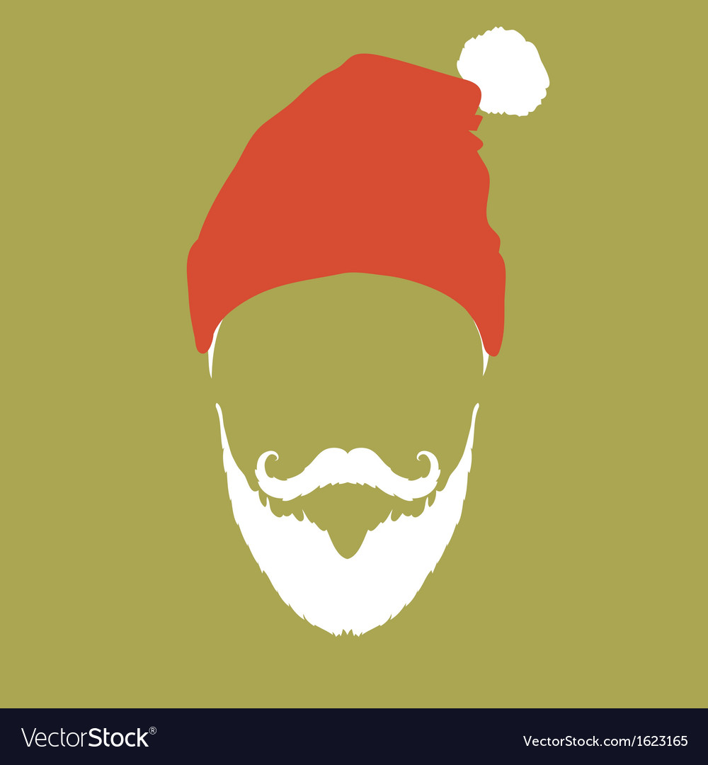 Santa claus hipster fashion style vector | Price: 1 Credit (USD $1)