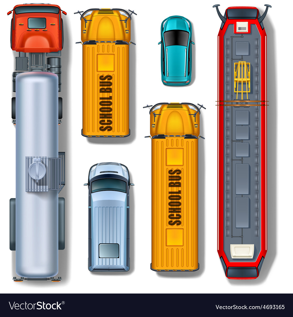 Transportation collection top view vector | Price: 1 Credit (USD $1)