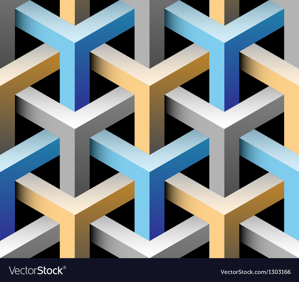 3d seamless pattern vector | Price: 1 Credit (USD $1)