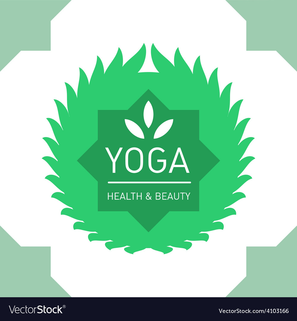 Floral logo template for yoga or fitness class vector | Price: 1 Credit (USD $1)