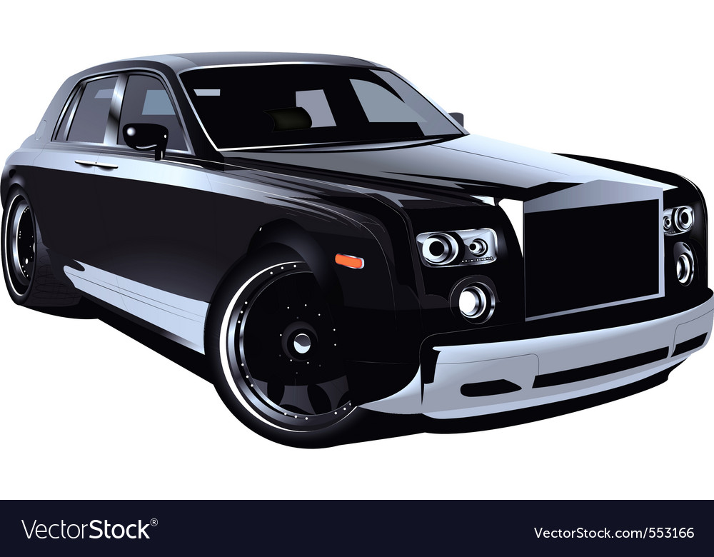 Luxurious british car vector | Price: 3 Credit (USD $3)