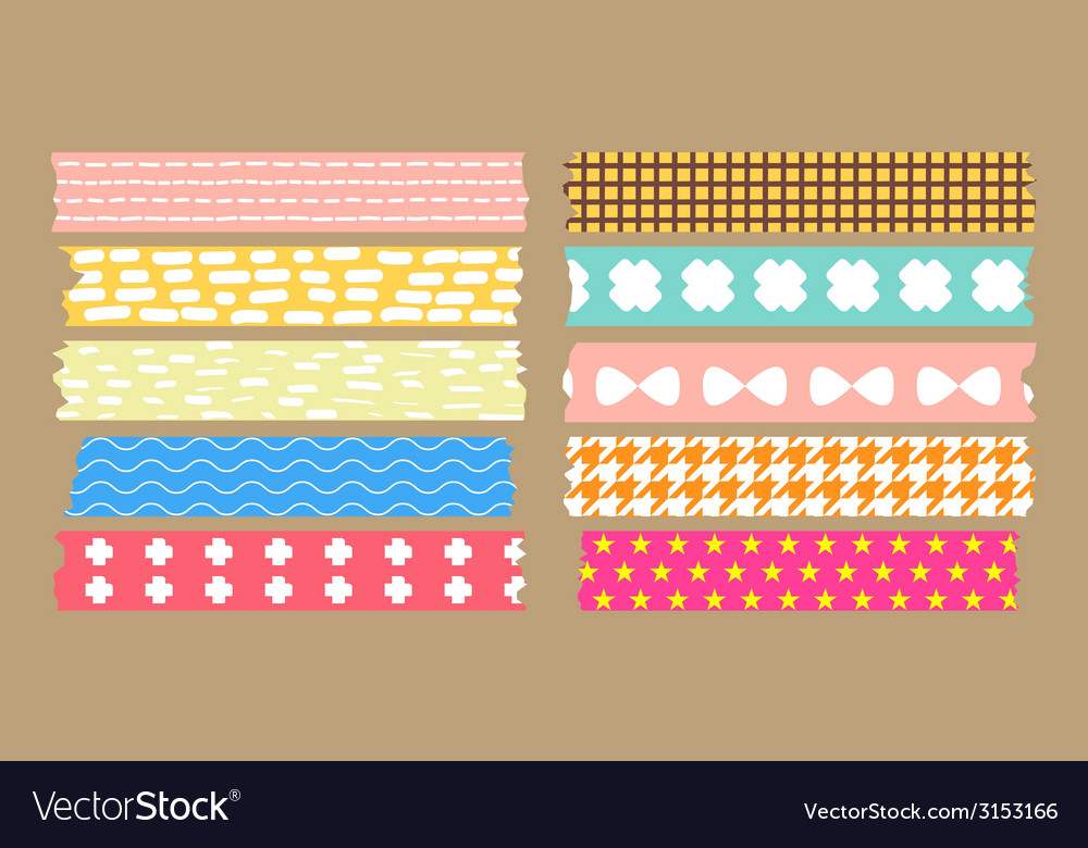 Masking tape collection vector | Price: 1 Credit (USD $1)