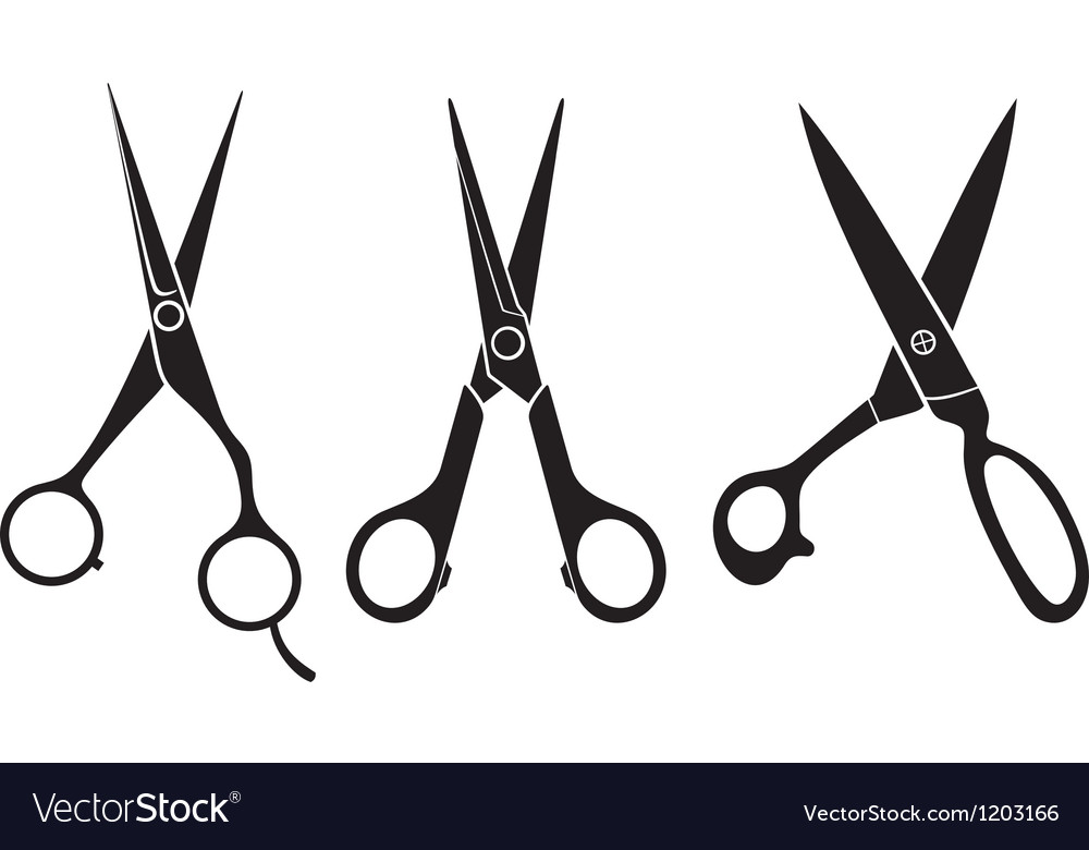 Scissors set vector | Price: 1 Credit (USD $1)