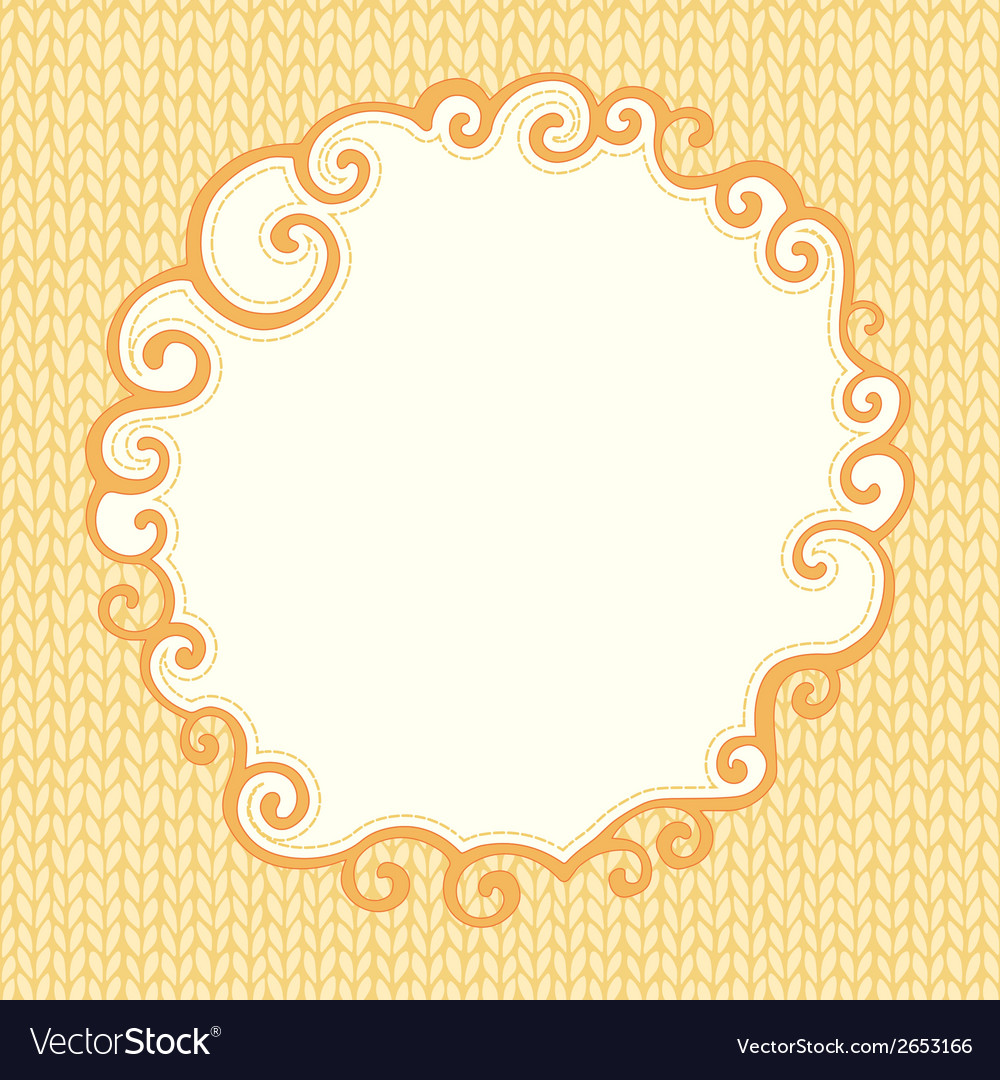 Seamless knitted pattern with doodle frame for vector   Price: 1 Credit (USD $1)