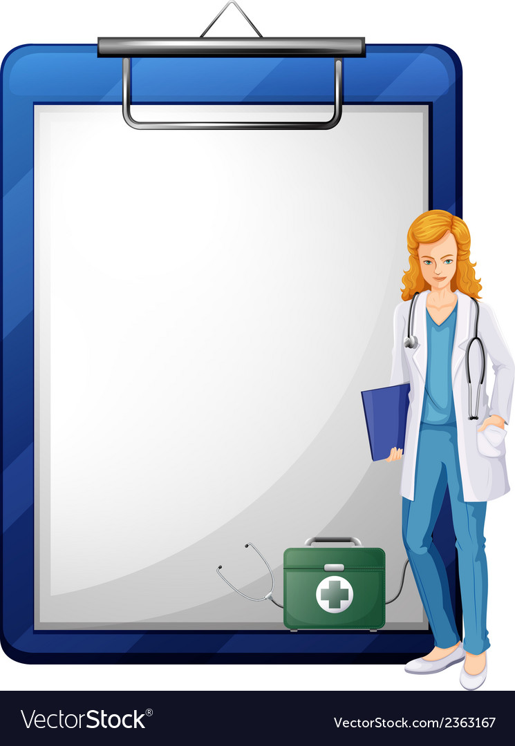 A doctor with a chart vector | Price: 1 Credit (USD $1)