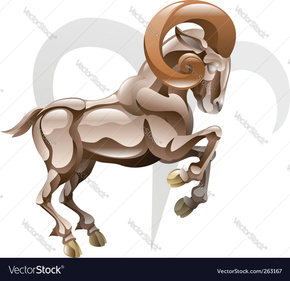 Arise the ram star sign vector | Price: 1 Credit (USD $1)