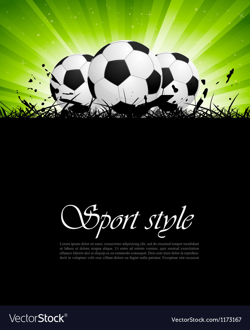 Background with soccer balls vector | Price: 1 Credit (USD $1)