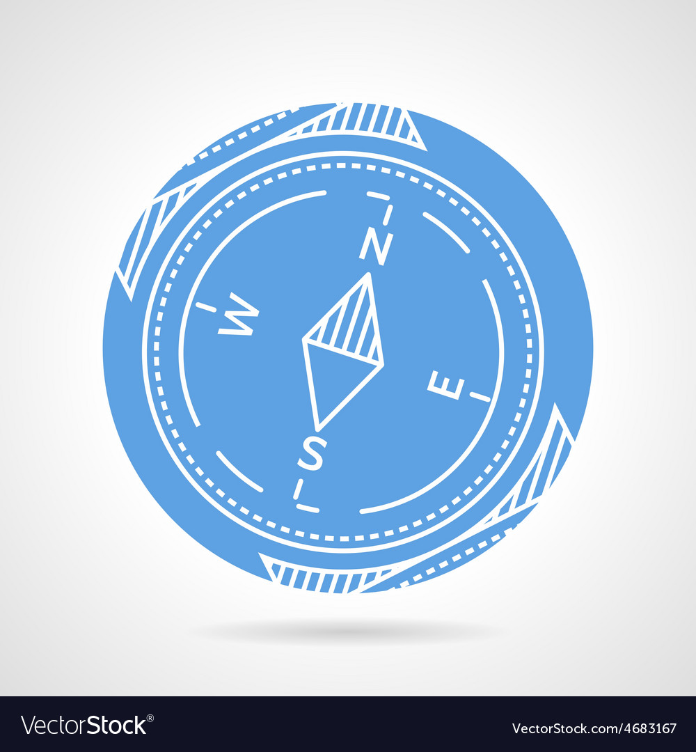 Compass blue icon vector | Price: 1 Credit (USD $1)