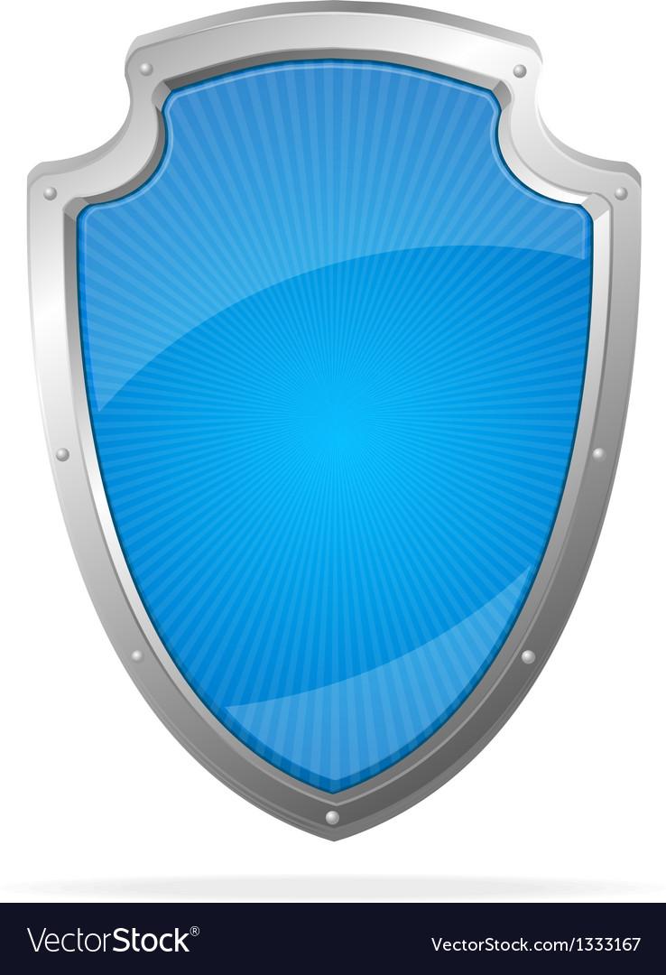 Empty metal shield blue vector | Price: 1 Credit (USD $1)