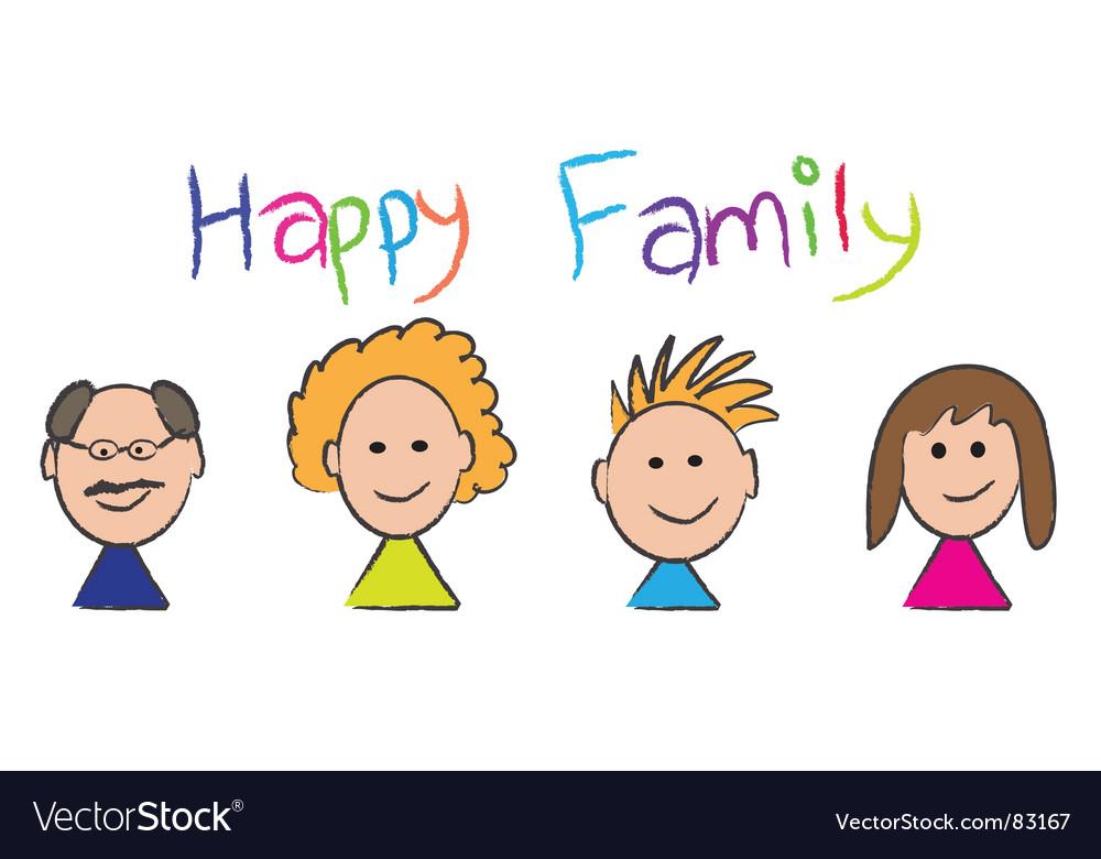 Happy family vector | Price: 1 Credit (USD $1)