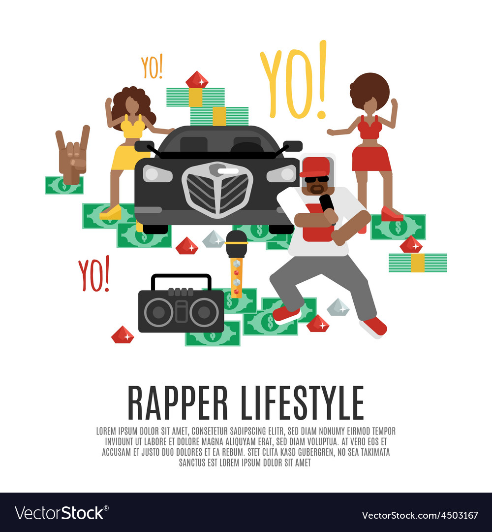 Rap music concept vector | Price: 1 Credit (USD $1)