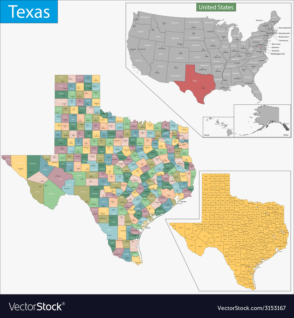 Texas map vector | Price: 1 Credit (USD $1)