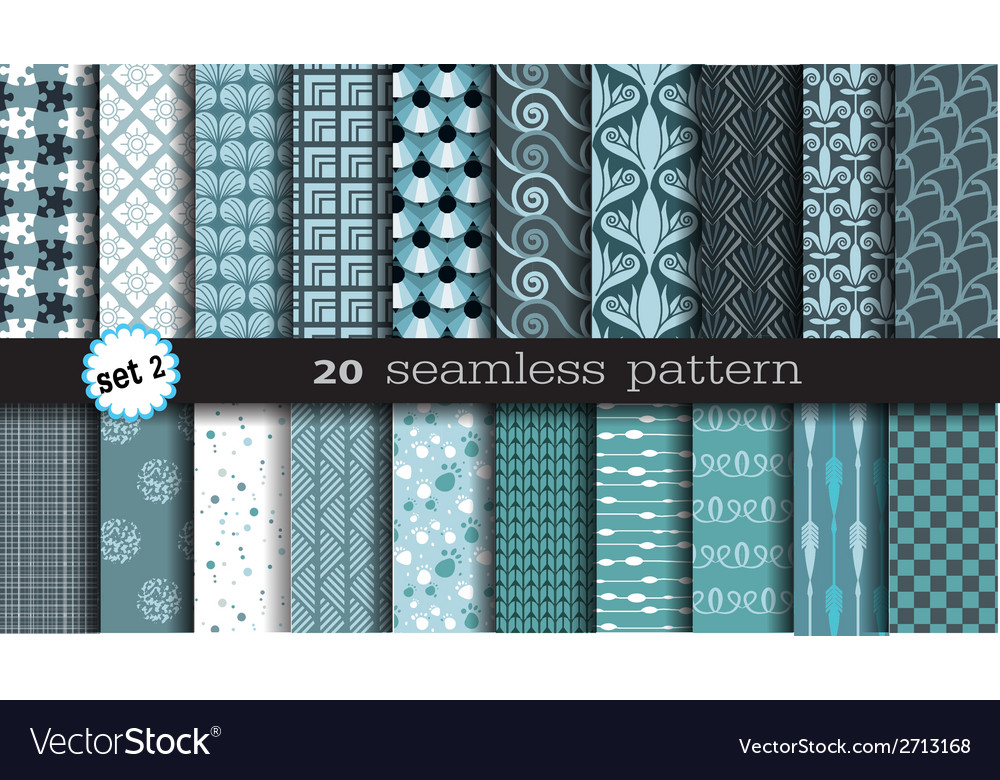 20 seamless pattern set 2 vector | Price: 1 Credit (USD $1)