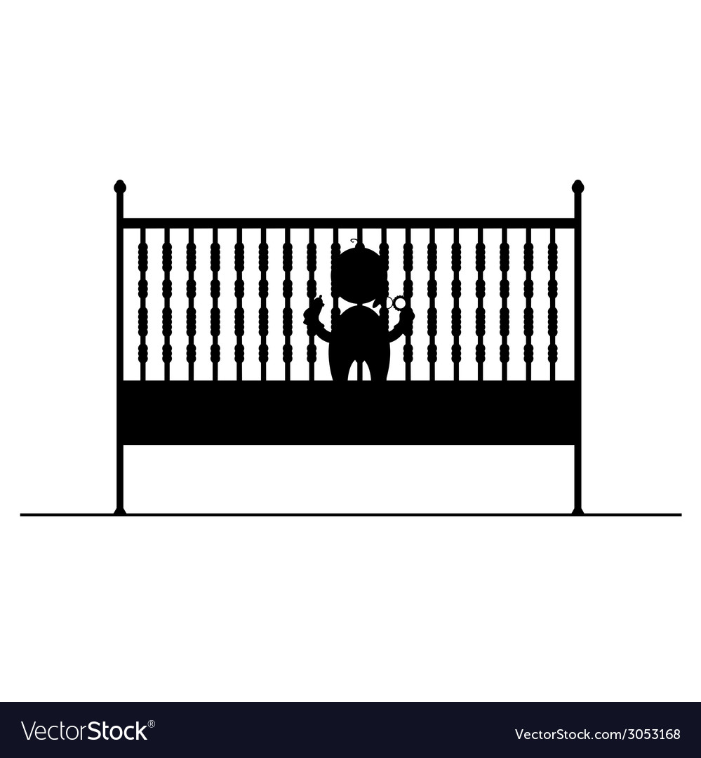 Baby in crib symbol and icon vector   Price: 1 Credit (USD $1)
