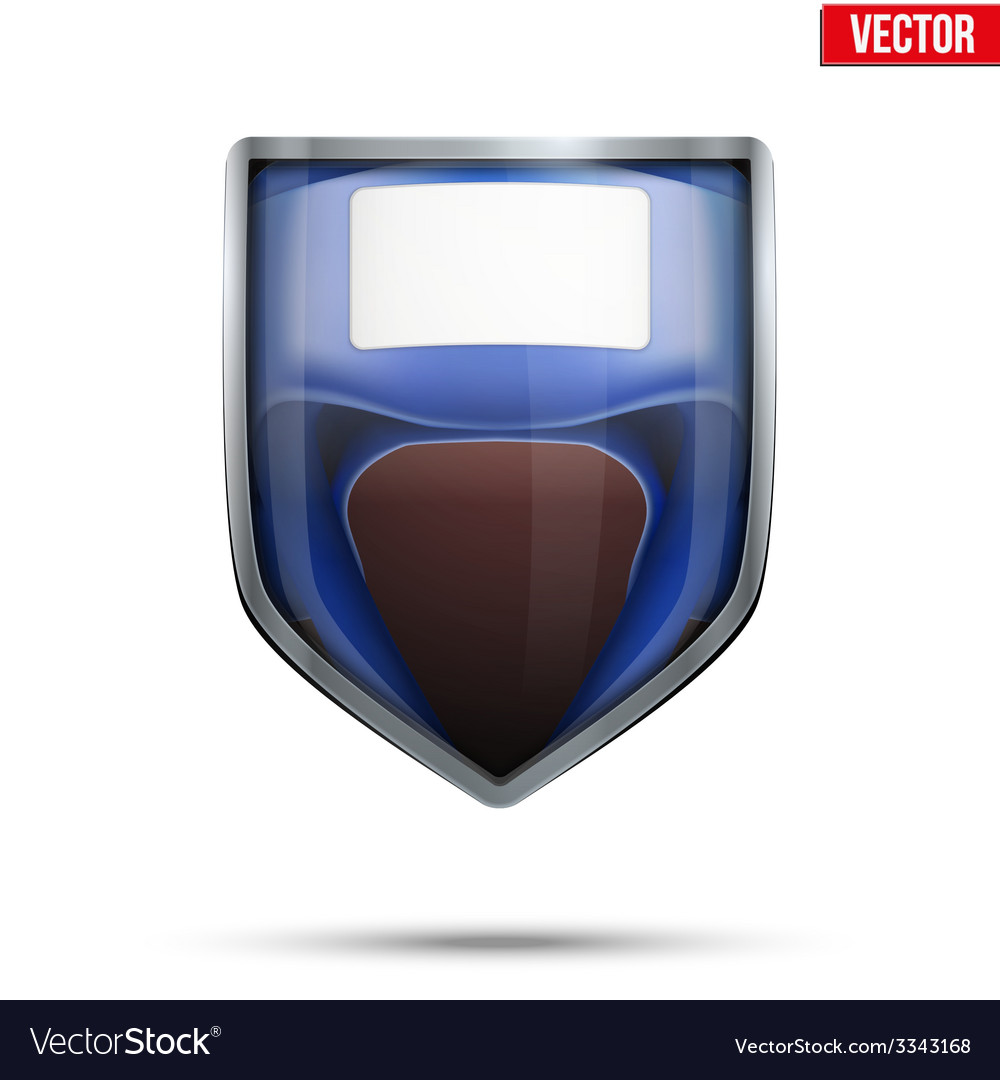 Bright shield in the boxing helmet inside vector | Price: 3 Credit (USD $3)