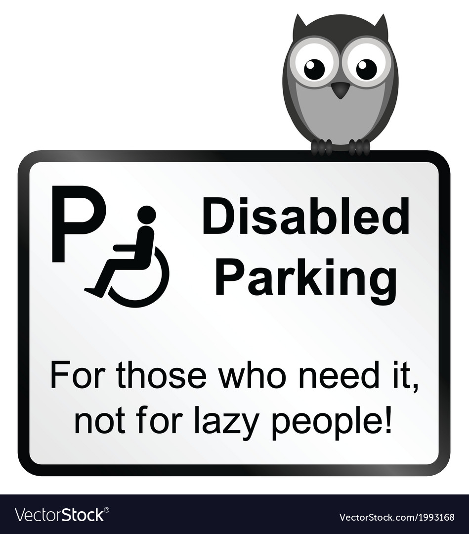 Disabled parking vector | Price: 1 Credit (USD $1)