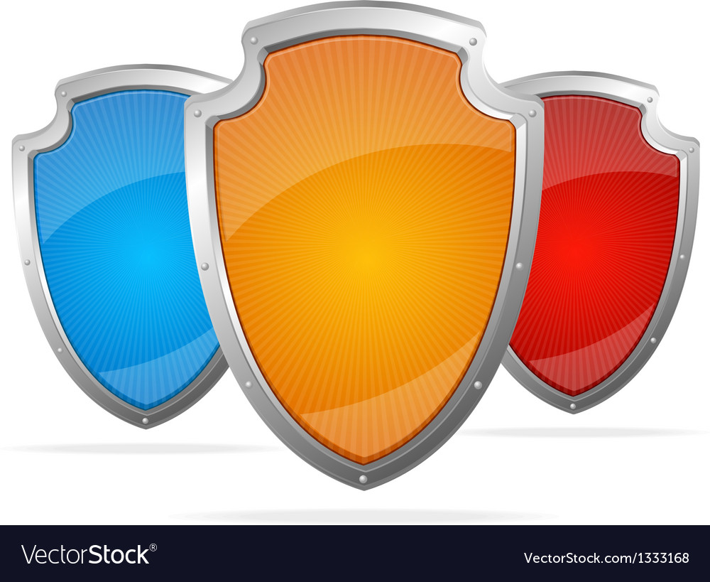 Empty metal shields protection concept vector | Price: 1 Credit (USD $1)