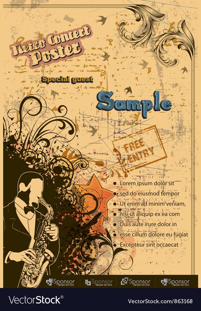 Grunge concert poster vector   Price: 1 Credit (USD $1)