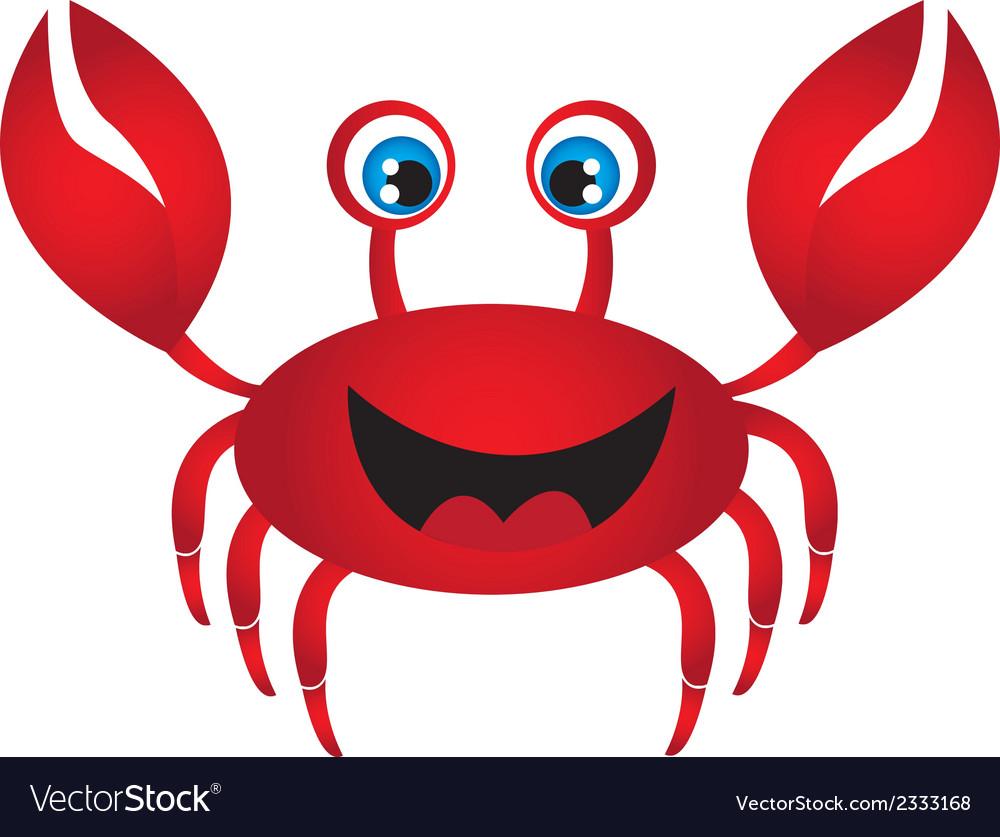 Red crab cartoon vector | Price: 1 Credit (USD $1)