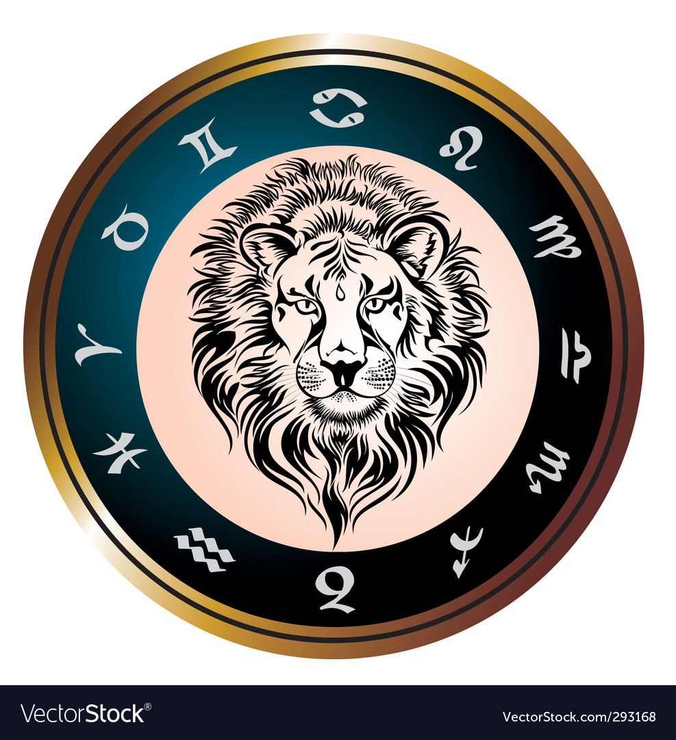 Zodiac signs of leo vector | Price: 3 Credit (USD $3)