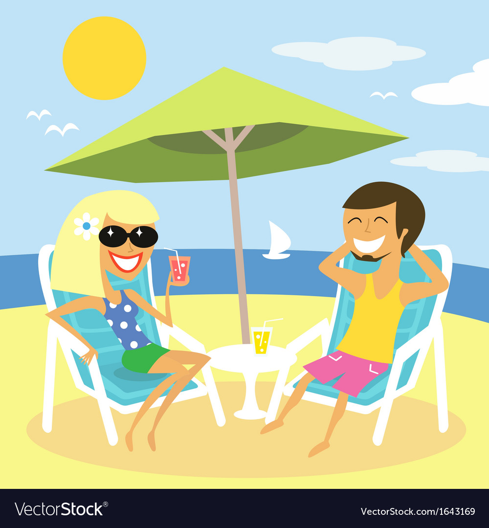 Beach summer vacation vector | Price: 1 Credit (USD $1)