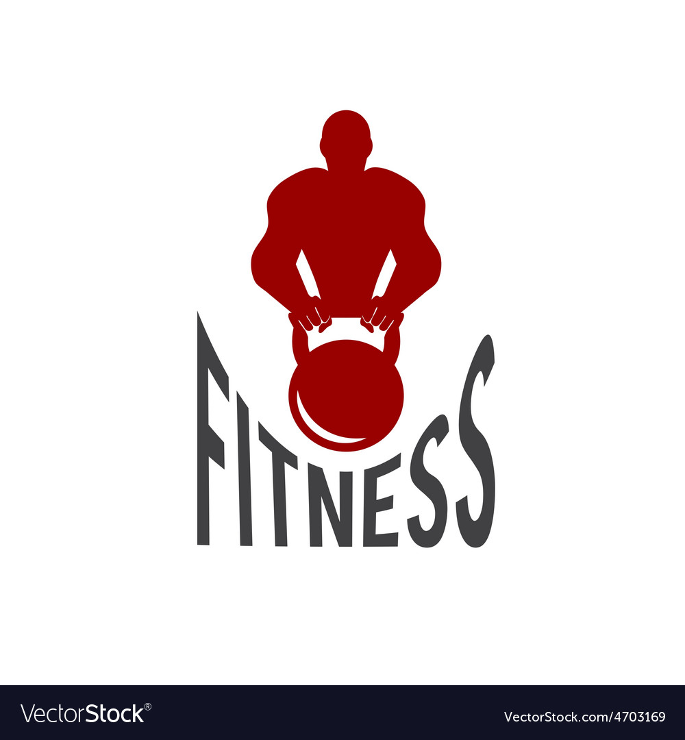 Bodybuilder fitness model with kettlebell vector | Price: 1 Credit (USD $1)