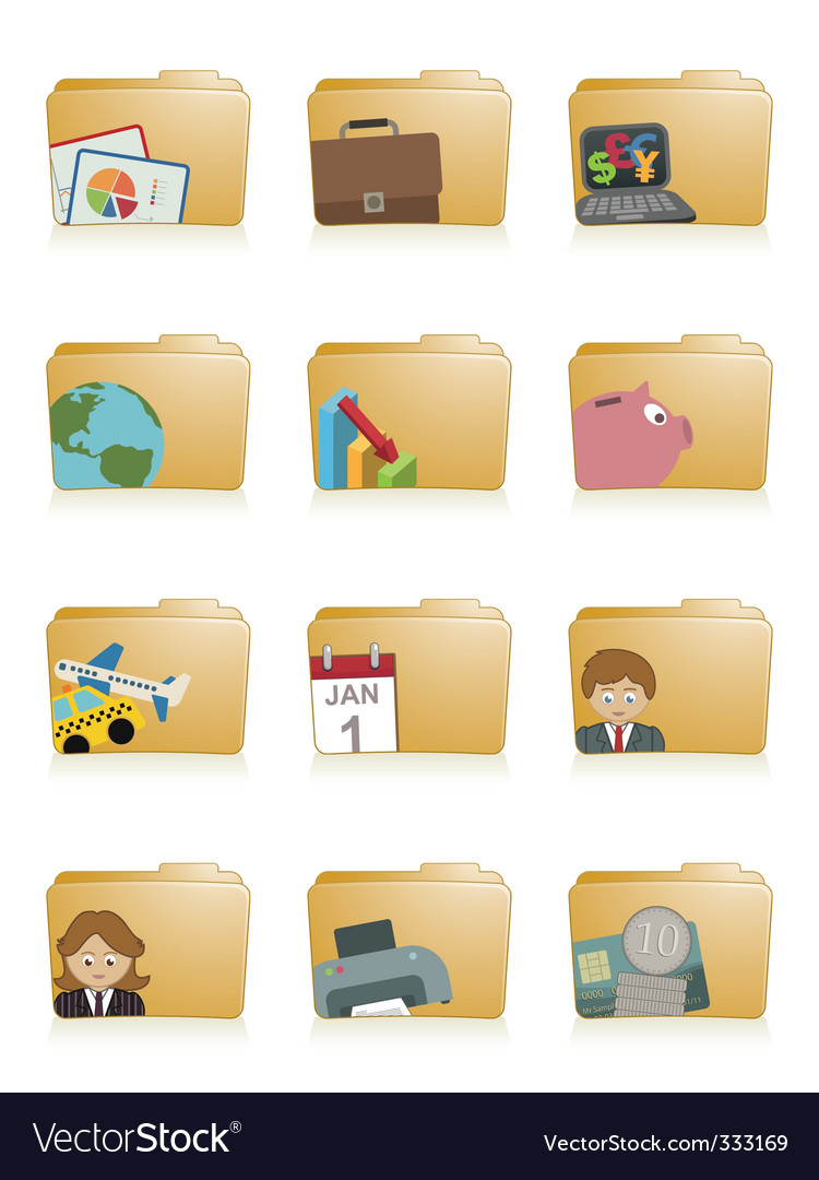 Business folders vector | Price: 1 Credit (USD $1)