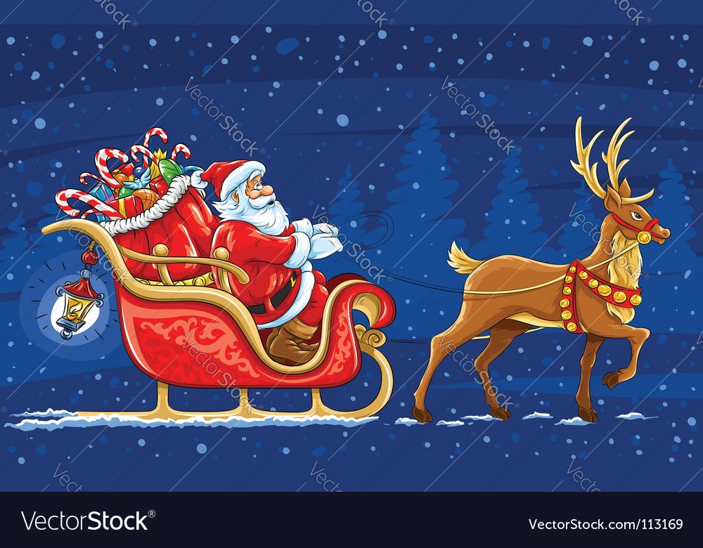 Christmas santa claus vector | Price: 5 Credit (USD $5)