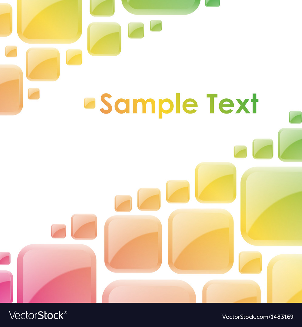 Colorful glossy squares abstract background vector | Price: 1 Credit (USD $1)