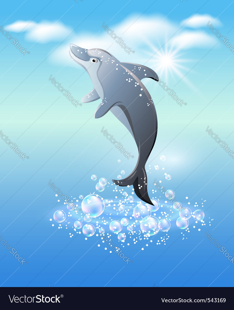 Dolphin leaps vector | Price: 1 Credit (USD $1)