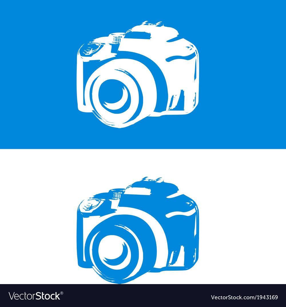 Dslr camera icon vector | Price: 1 Credit (USD $1)