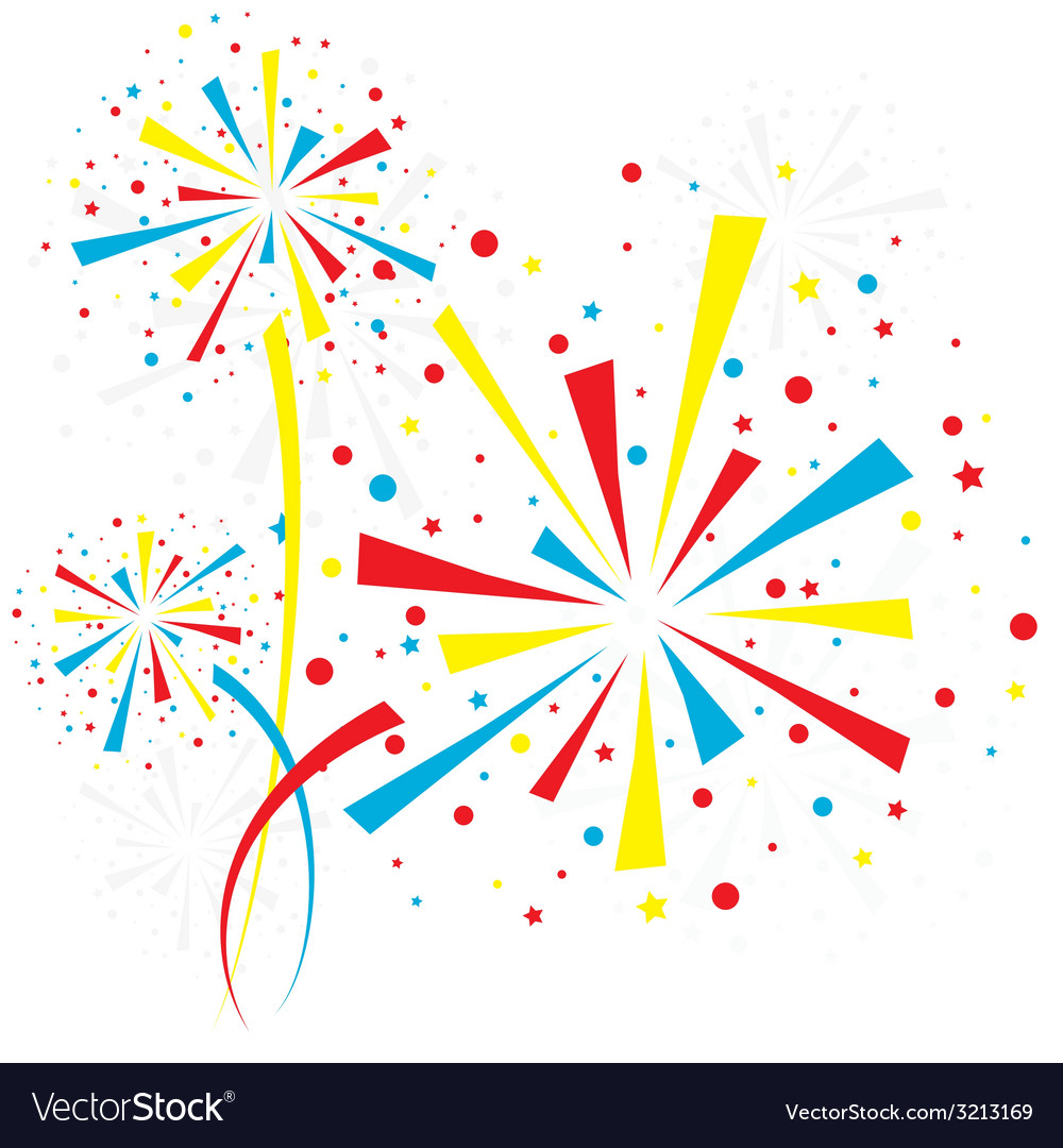 Firework white vector | Price: 1 Credit (USD $1)