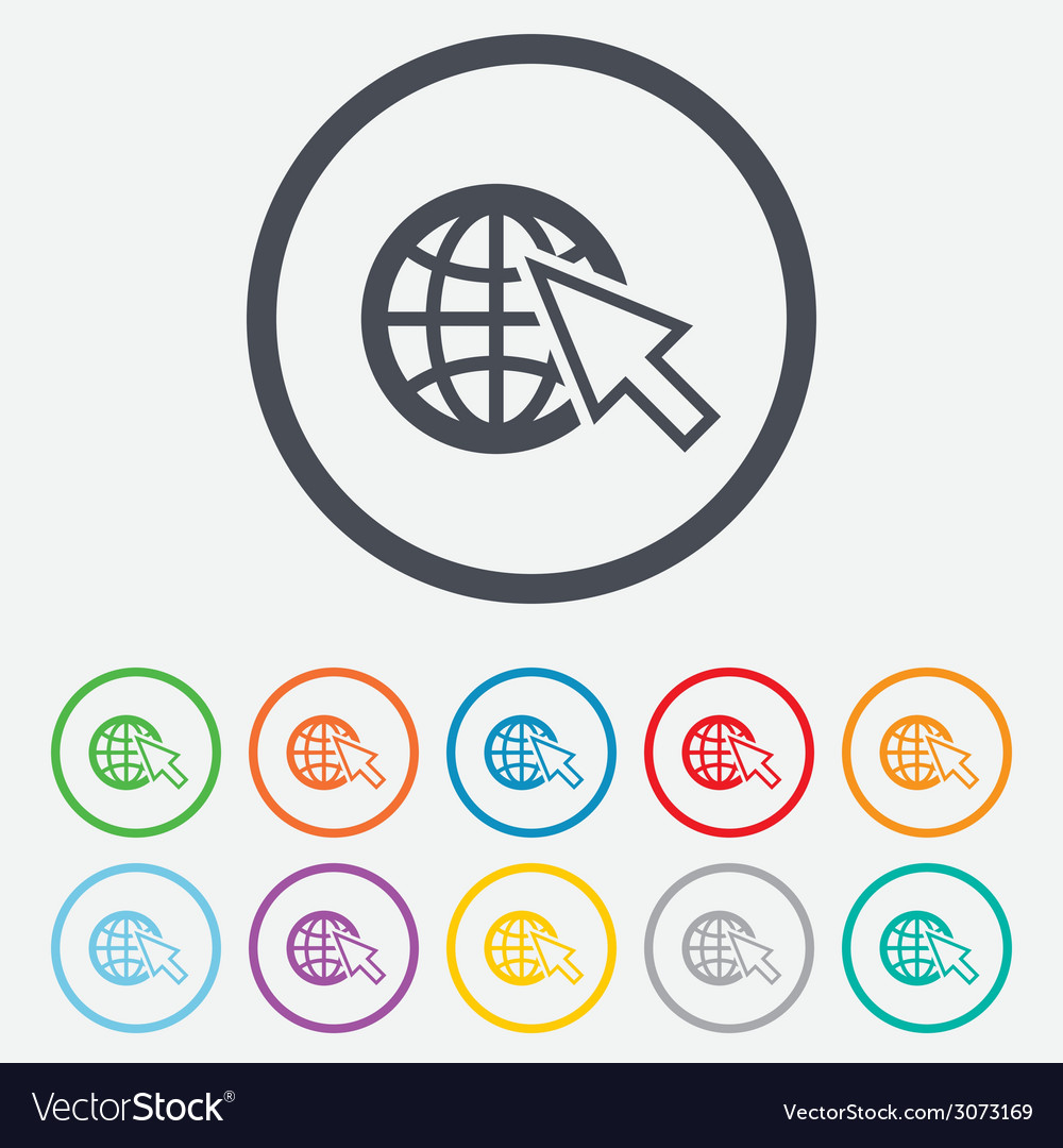 Internet sign icon world wide web symbol vector | Price: 1 Credit (USD $1)