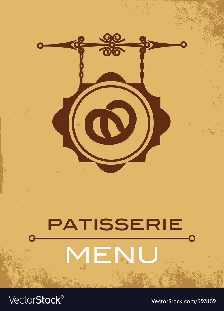Pastry menu vector | Price: 1 Credit (USD $1)