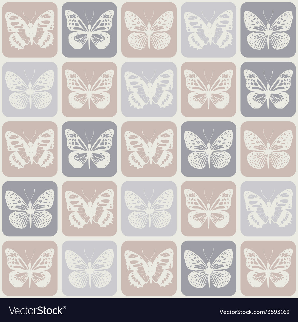 Seamless pattern with butterflies eps 8 vector | Price: 1 Credit (USD $1)