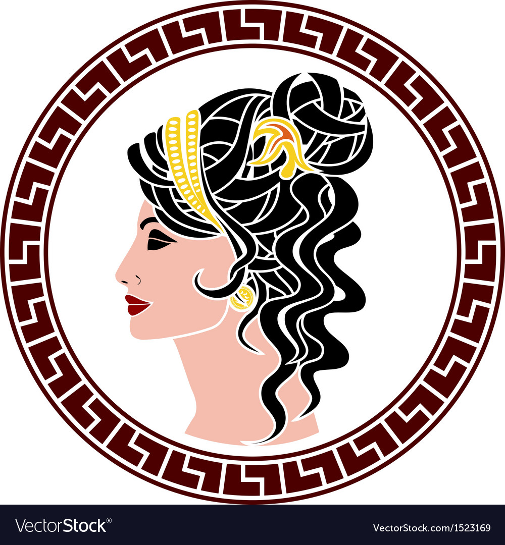 Stencil of aristocrat woman vector | Price: 1 Credit (USD $1)