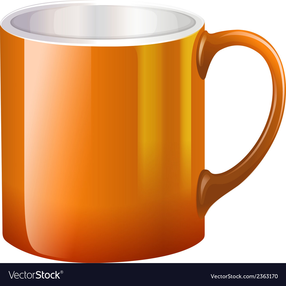 A big orange mug vector | Price: 1 Credit (USD $1)