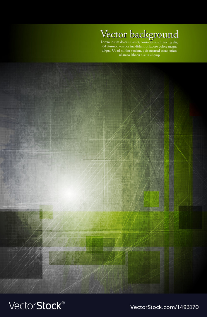 Abstract grunge hi-tech design vector