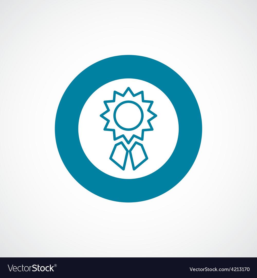 Achievement icon bold blue circle border vector | Price: 1 Credit (USD $1)