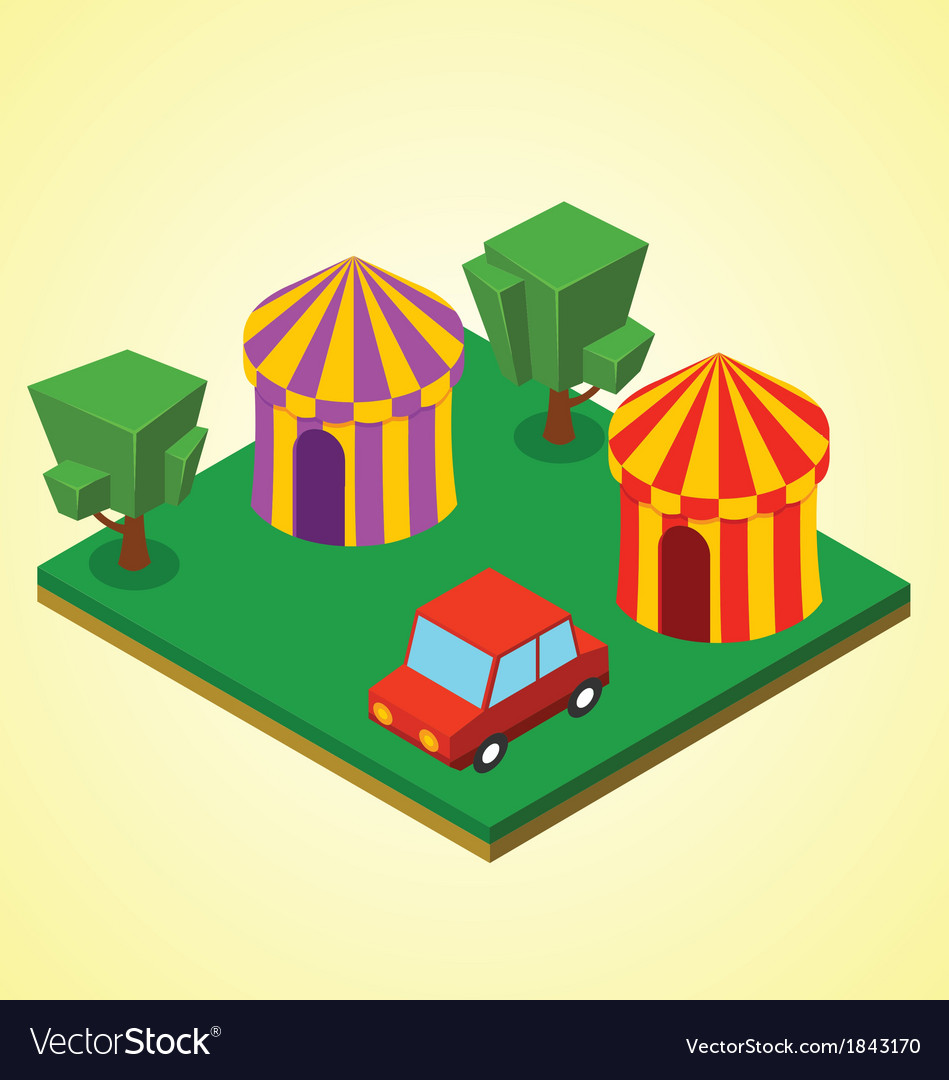 Carnival tent vector | Price: 1 Credit (USD $1)